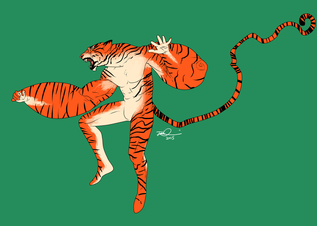 Tiger Man by MangleDangle