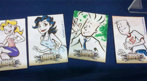 Megacon 2011 sketchcards by sosnw