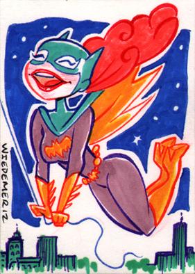 Batgirl Sketch card by sosnw