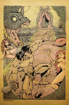 Conan Vs Snake Priestess Color