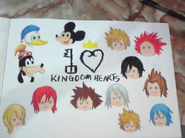 Kingdom Hearts 10th year Anniversary by MitskiMing