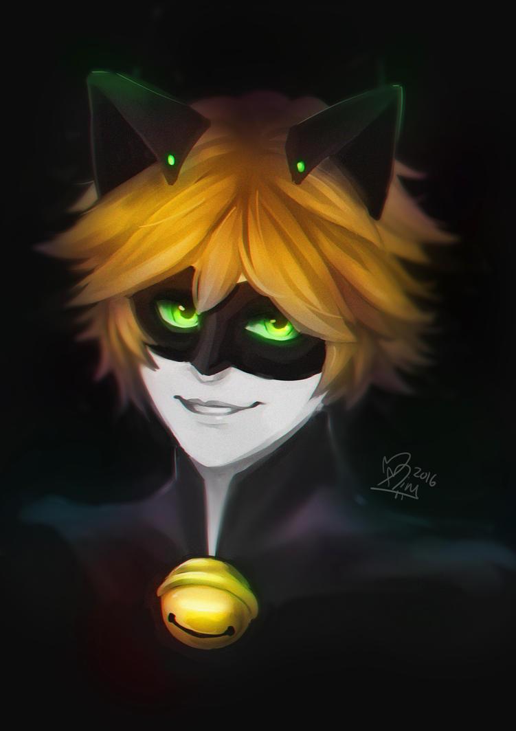 Chat Noir by MitskiMing