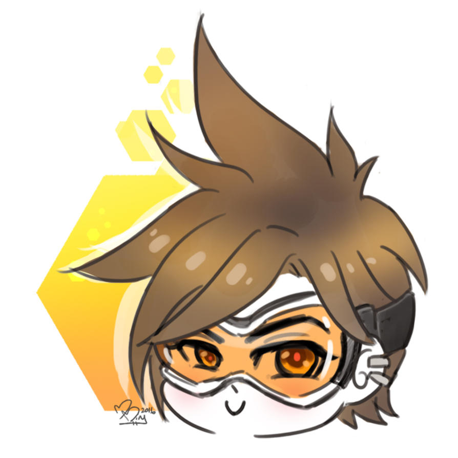 .:Overwatch:. Tracer doodle by MitskiMing