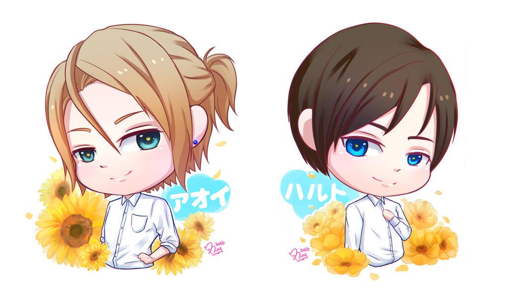 .:Toraware no Paruma:. Aoi and Haruto by MitskiMing