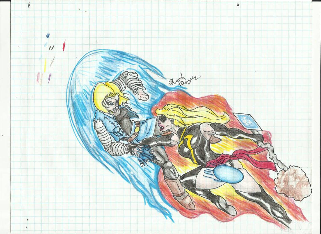 Android 18 vs Captain Marvel DEATH BATTLE! by Bigdaddy9716