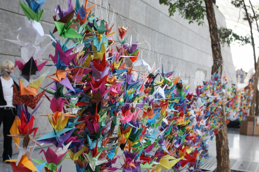 thousand cranes by Edolein