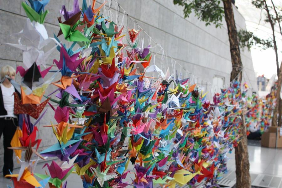 thousand cranes by Edolein