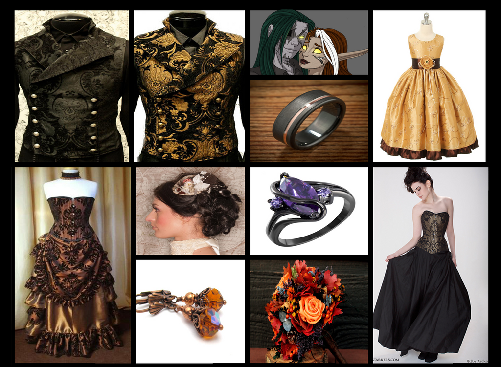 Wedding Aesthetic: Steampunk Romance by The-Serene-Mage