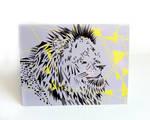 Geometric Lion Blank Card