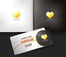 Golden Heart Logo by VanSage