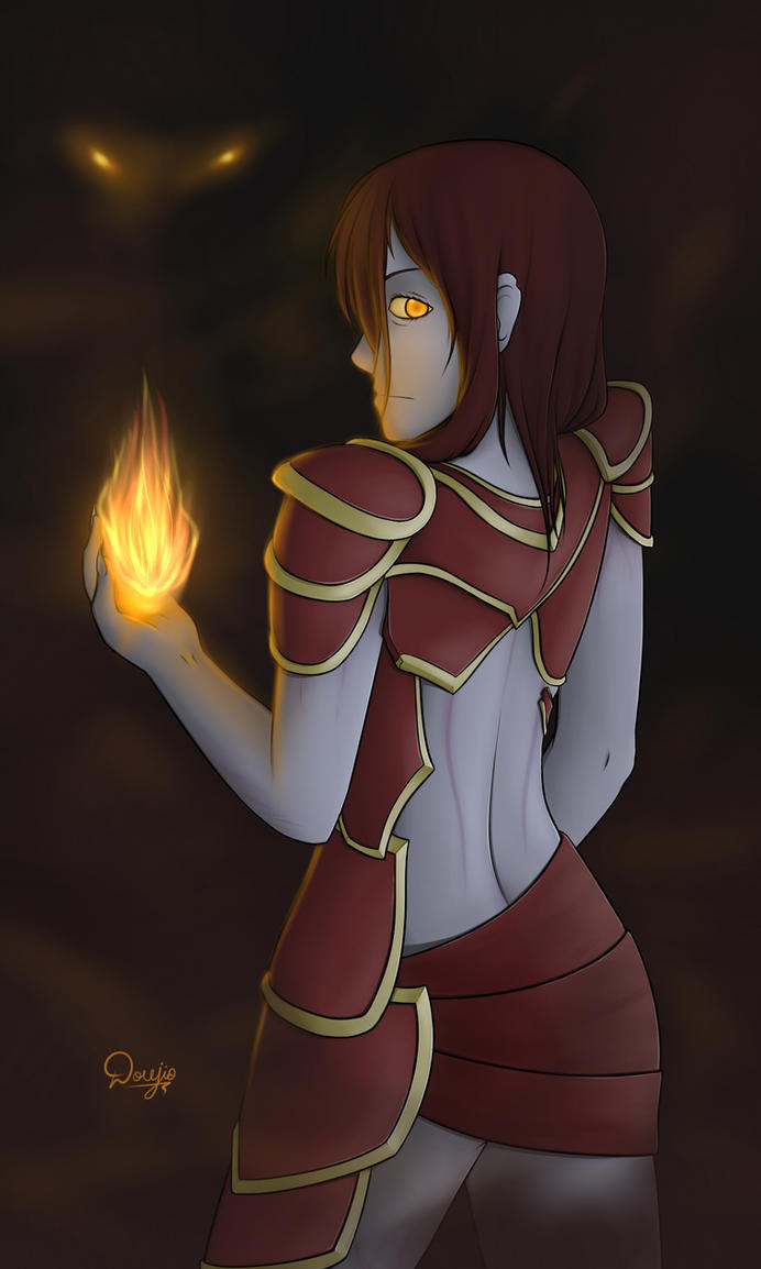 Shyvana, the Half-Dragon by Doujio