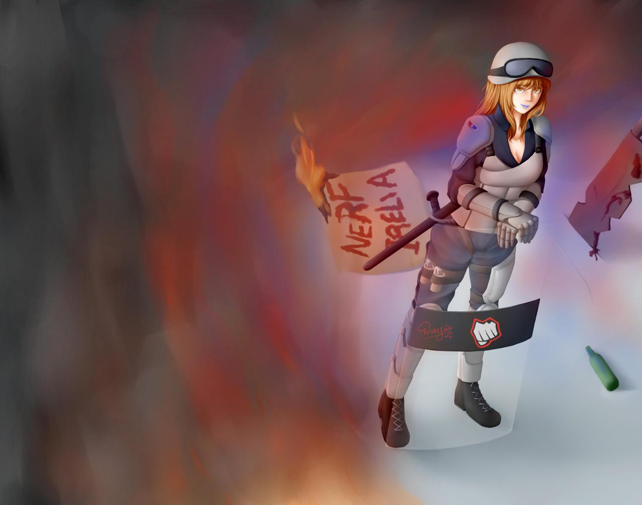 Riot Leona by Doujio