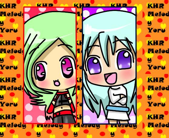 KHR Chibi Melody y Yoru by miracm4