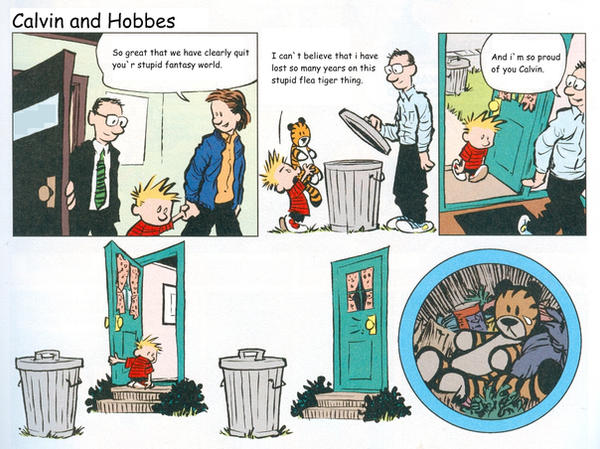 Calvin and Hobbes happy ending by thehappytiger