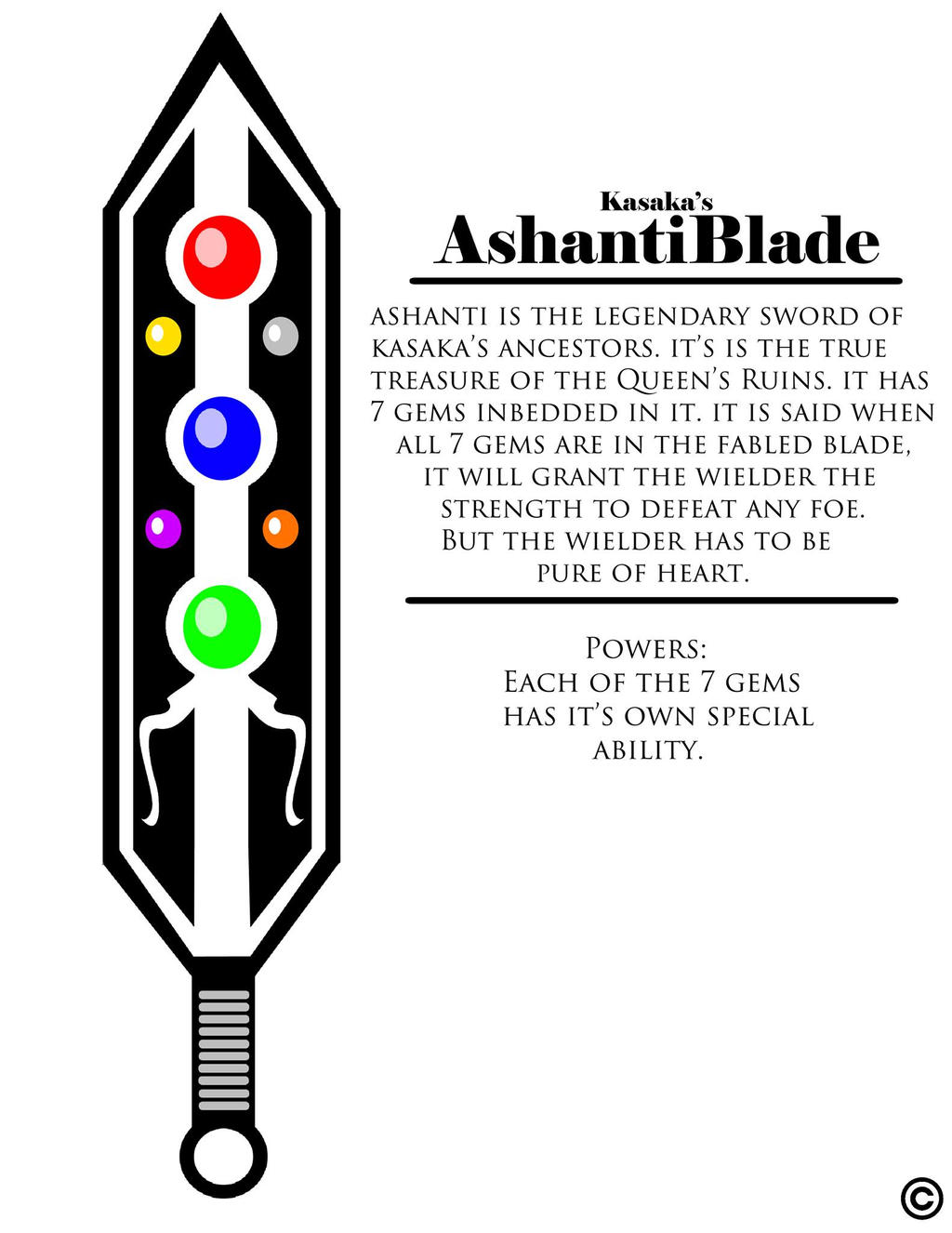 Kasaka's Sword / Ashanti by ThaMaJesticArtist