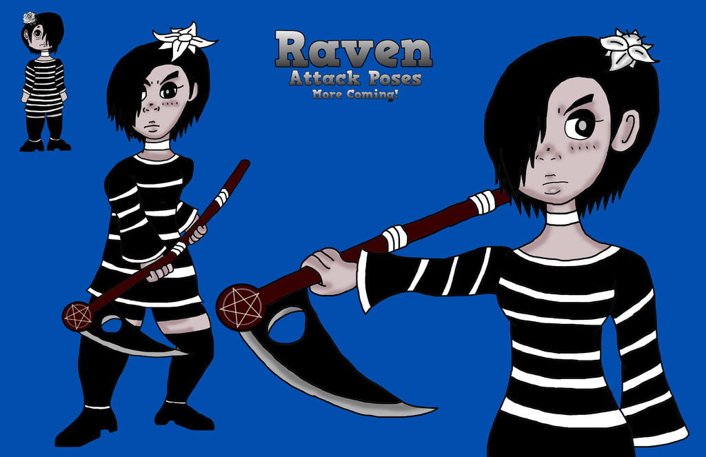 Raven equip with Reaper Wand by ThaMaJesticArtist