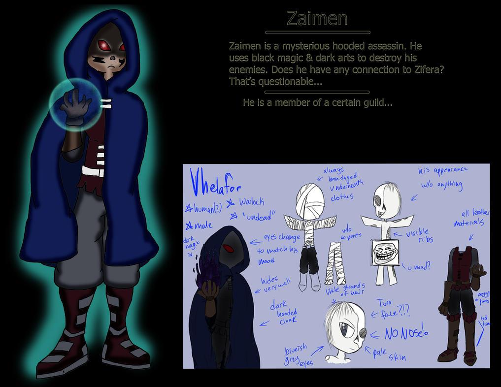 Zaimen the Dark Gothcaster by ThaMaJesticArtist