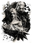 Geralt and Ciri - The Witcher (pencil drawing)