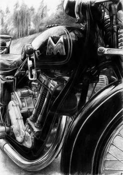 Matchless 500 - pencil on A4