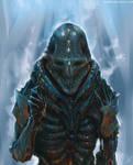 Alien in a biological armor