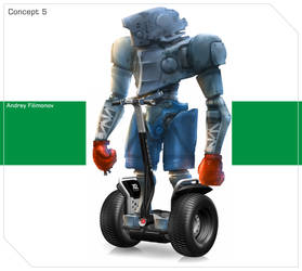 Robot boxer on Segway 2 by AndyFil