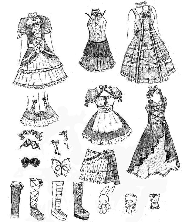 lolita dresses designs 1 by dreamlessxangel