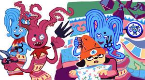 octopus hairdresser!