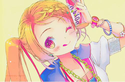 anime cute colorful girl - photo #5