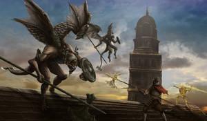 Dark Souls - Bell Gargoyles by OniRuu