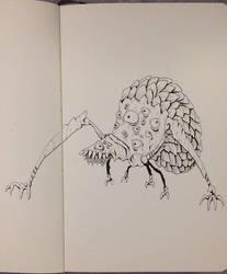 Inktober Day 16 - Eye Crawler by OniRuu