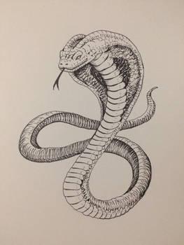 Inktober Day 23 - Cobra