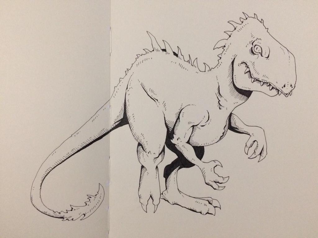 Inktober Day 24 - Moar Dinosaurs! by OniRuu