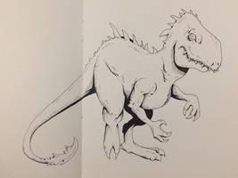 Inktober Day 24 - Moar Dinosaurs!