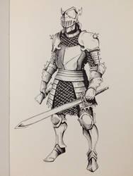 Inktober Day 25 - Ornate Knight