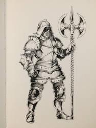 Inktober Day 30 - Elite Guard by OniRuu