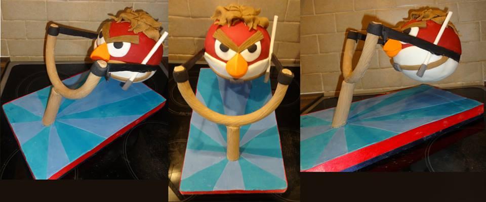 Angry Birds Cake by paras2e