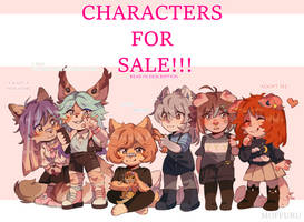 Characters for Sale! by RichiePanda