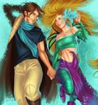 Caleb and Cornelia - W.I.T.C.H by Ithilnaur