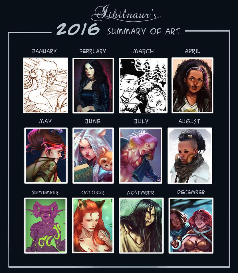 Ithilnaur's 2016 Summary of Art by Ithilnaur