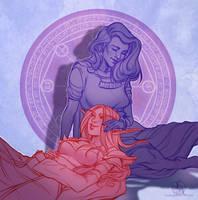 Tranquility - Sketch commission - Hypatia x Sayn by Ithilnaur