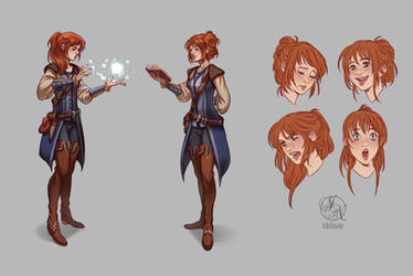 Merrin - Character sheet commission by Ithilnaur