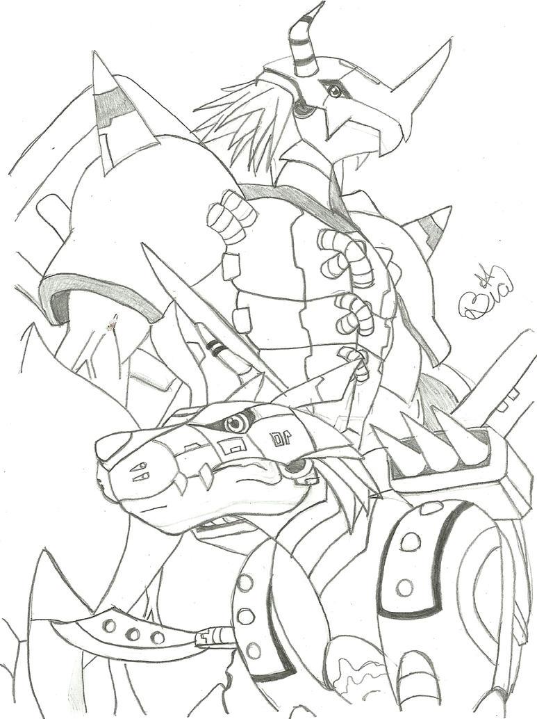 digimon weregarurumon coloring pages - photo#13