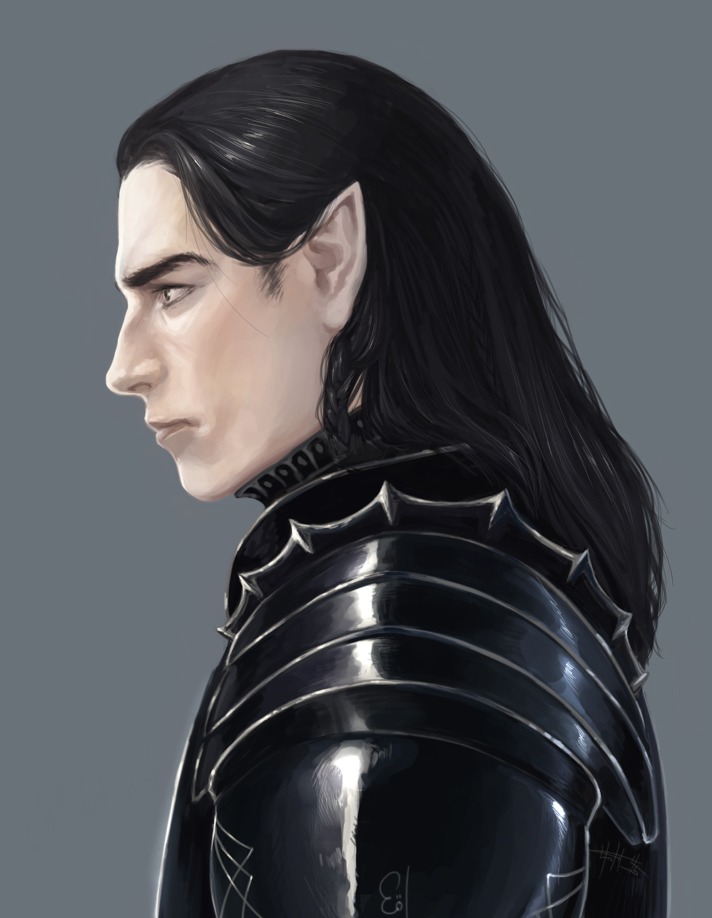Dark Haired Elf Lord Of The Rings