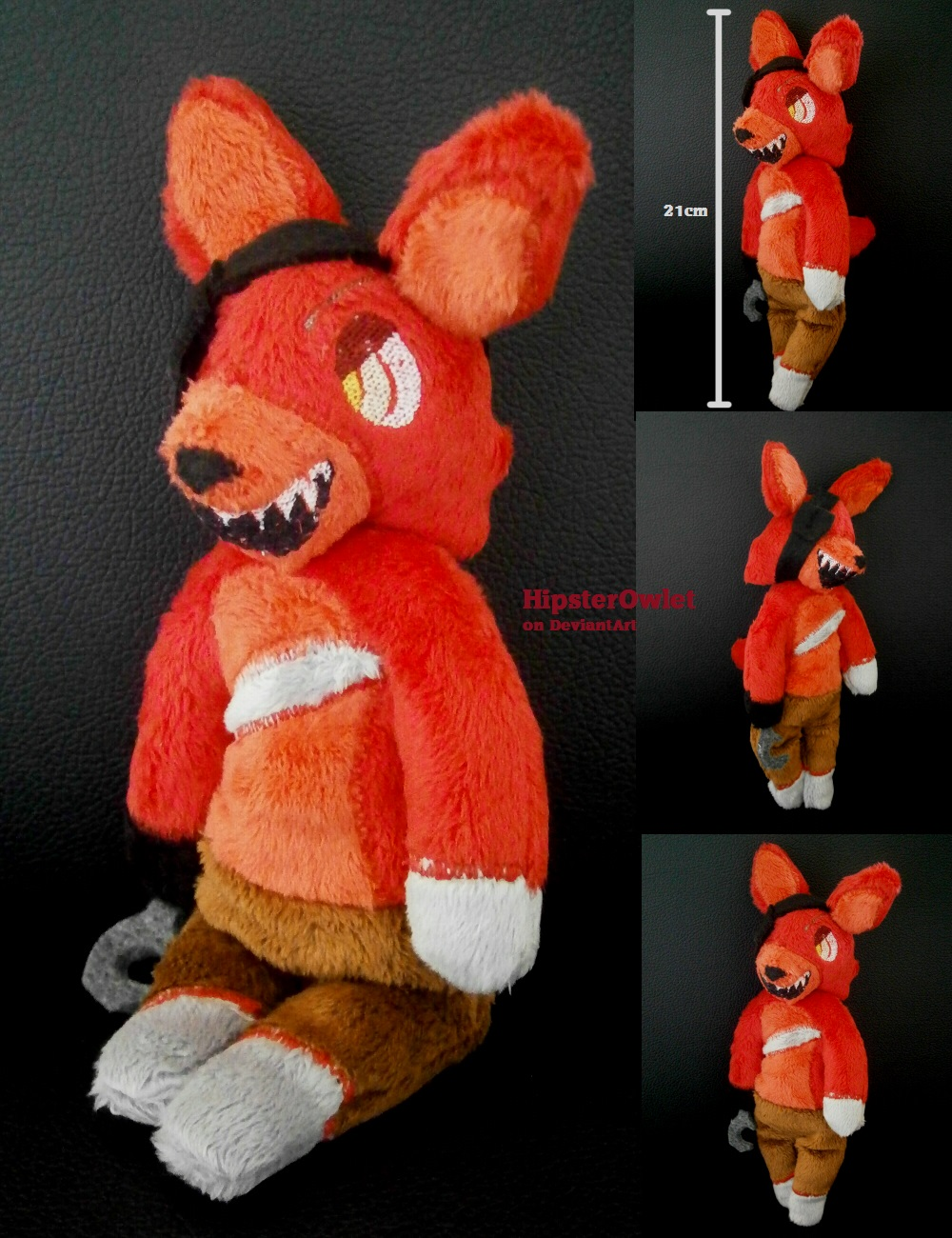 Five nights at freddy s plushie chibi foxy by hipsterowlet on