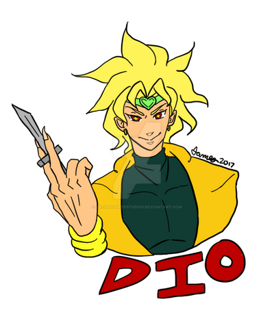 Dio Brando (Transparent) by DreamySheepStudios