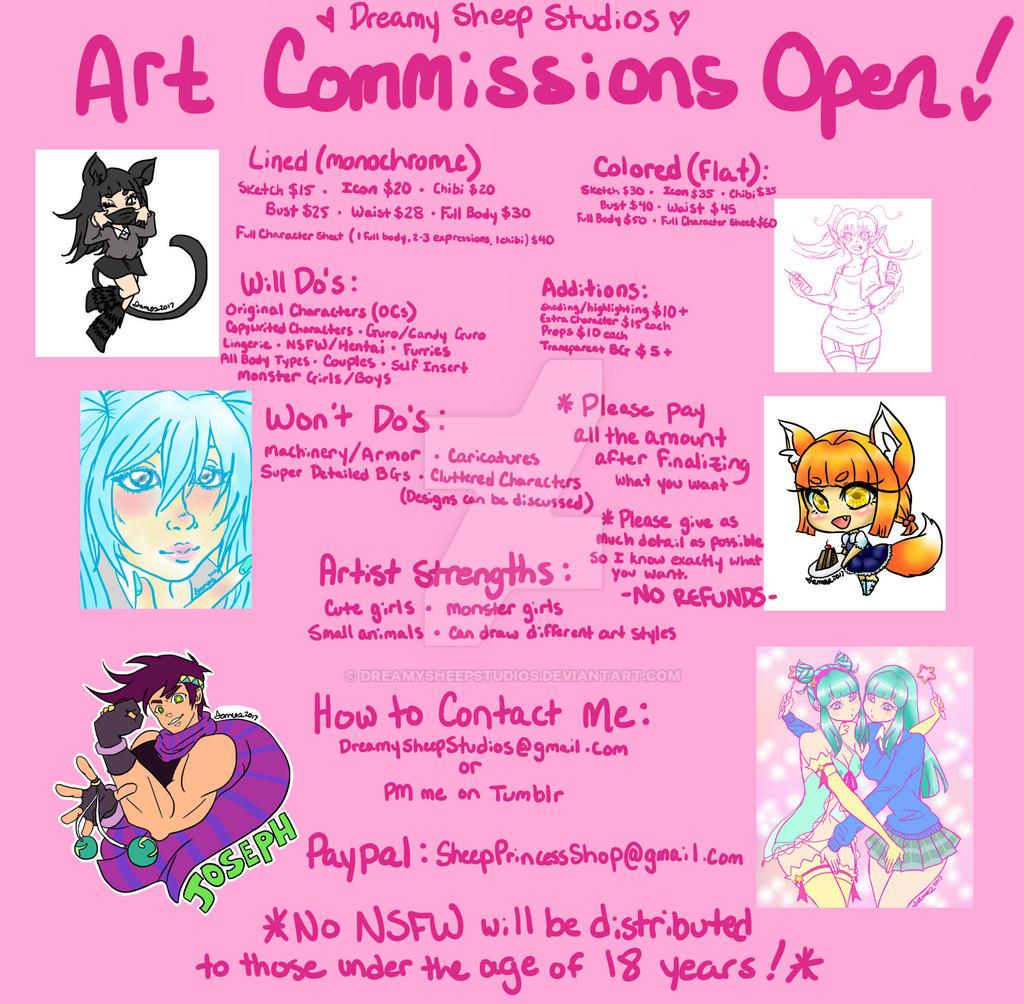 Art Commissions Open!! by DreamySheepStudios