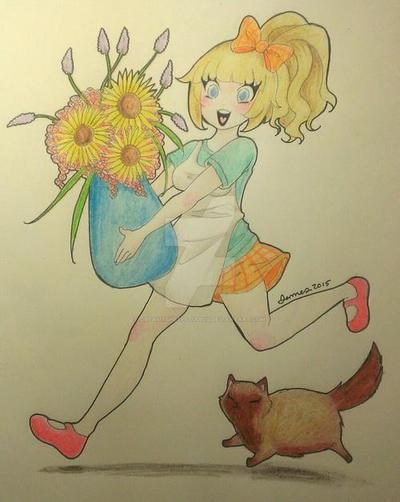 Lil Happy Florist by DreamySheepStudios