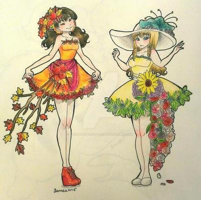 Seasonal Cocktail Dresses- Autumn and Spring by DreamySheepStudios