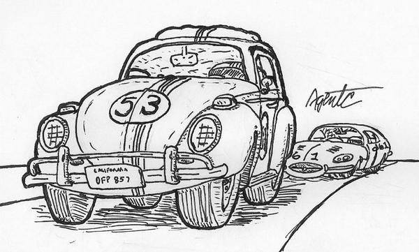 Herbie Car Coloring Pages : Love bug herbie the movie coloring page pages sketch