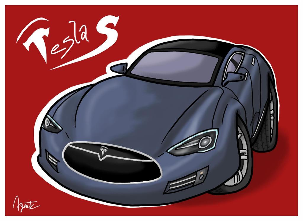 Pubg By Sodano On Deviantart: Tesla Toon: Model S By AgentC-24 On DeviantArt